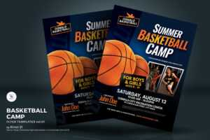 Basketball Camp Flyer Corporate Identity Template in Basketball Camp Brochure Template