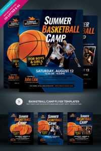 Basketball Camp Flyer Corporate Identity Template in Basketball Camp Certificate Template
