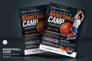 Basketball Camp Flyer Corporate Identity Template with Basketball Camp Brochure Template