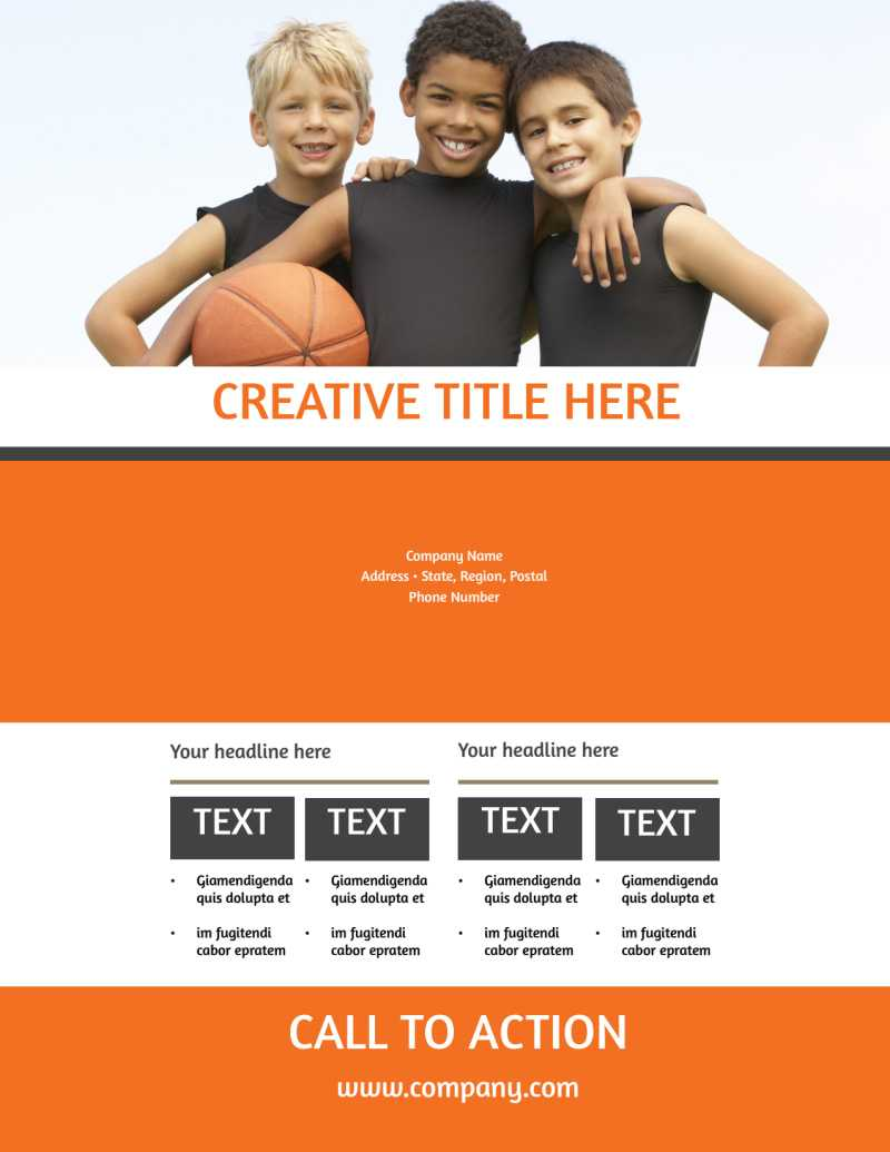Basketball Camp Flyer Template Within Basketball Camp Brochure Template