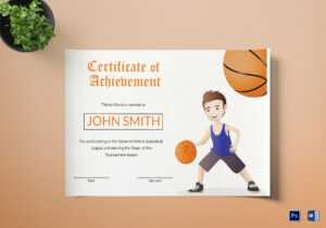 Basketball Certificate Template intended for Sports Award Certificate Template Word