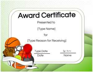 Basketball Certificates in Sports Award Certificate Template Word