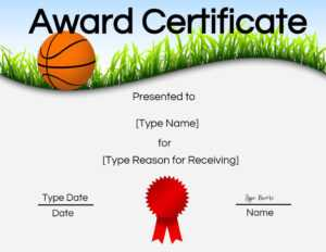 Basketball Certificates intended for Sports Award Certificate Template Word