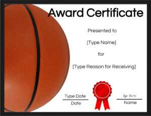 Basketball Certificates throughout Sports Award Certificate Template Word