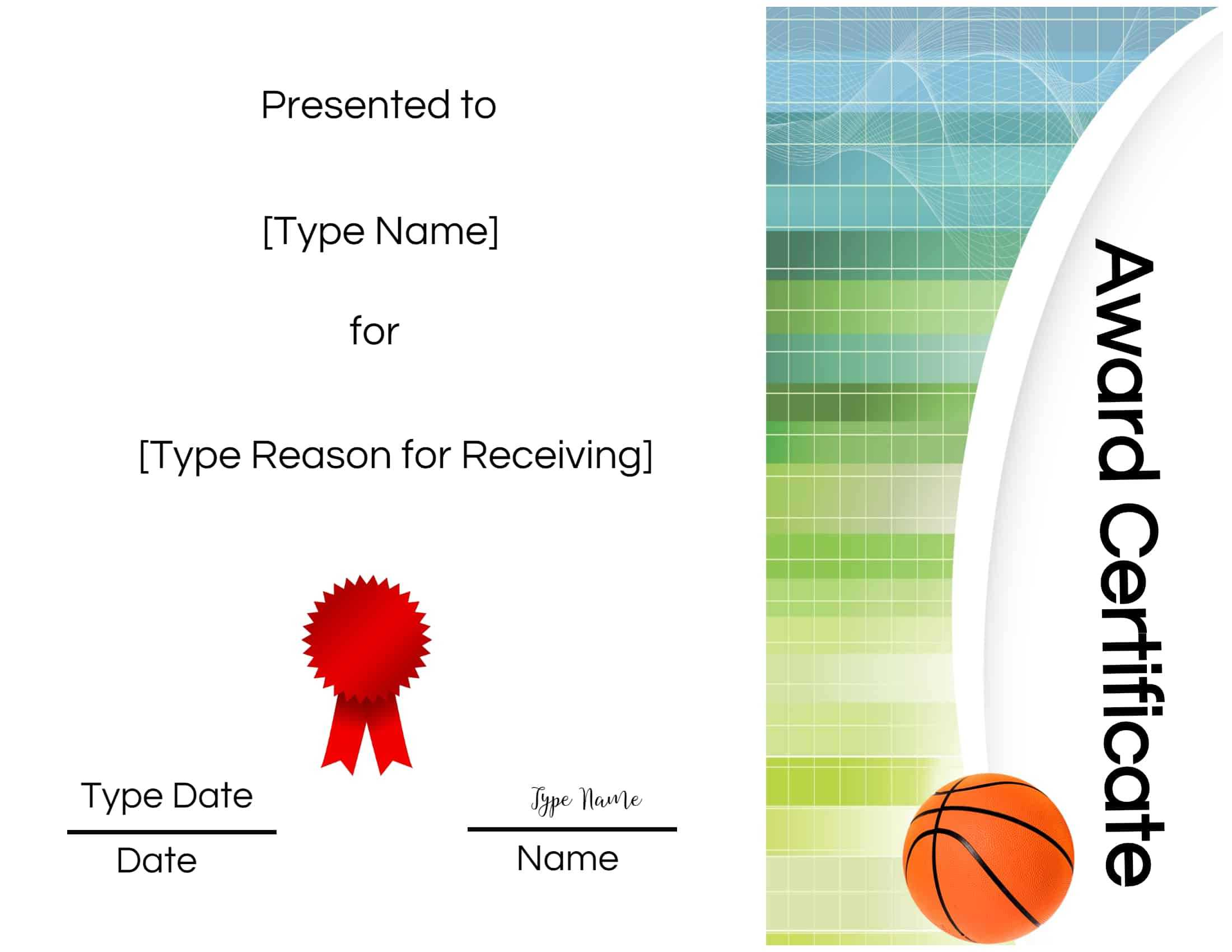 Basketball Certificates With Regard To Soccer Certificate Templates For Word
