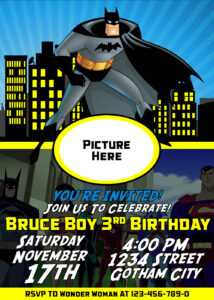 Batman Birthday Invitation | Dioskouri Designs pertaining to Batman Birthday Card Template