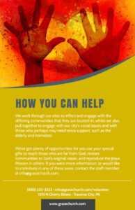 Be A Volunteer Church Flyer Template inside Volunteer Brochure Template