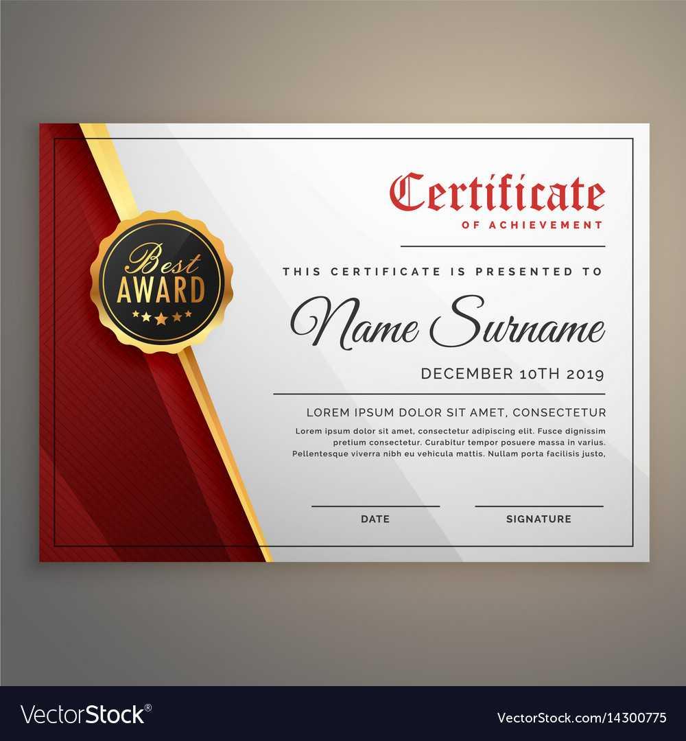 Beautiful Certificate Template Design With Best Within Beautiful Certificate Templates