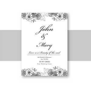 Beautiful Wedding Invitation Card Template With Decorative with Invitation Cards Templates For Marriage