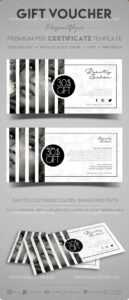 Beauty Salon – Gift Certificate Template In Psd in Salon Gift Certificate Template