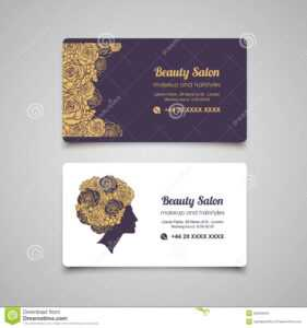 Beauty Salon Luxury Business Card Design Template With throughout Hair Salon Business Card Template
