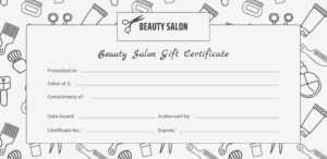 Beautycounter Gift Certificate Template within Salon Gift Certificate Template