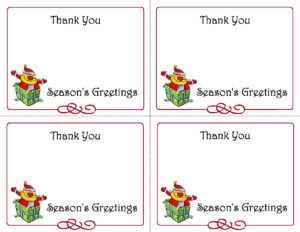 Best Christmas Thank You Notes Printable   Katrina Blog inside Christmas Note Card Templates