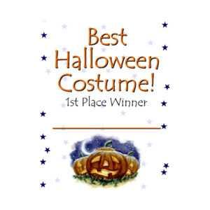 Best Halloween Costume Certificate Award inside Halloween Costume Certificate Template