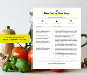 Best Looking Full Page Recipe Card In Microsoft Word – Used intended for Free Recipe Card Templates For Microsoft Word