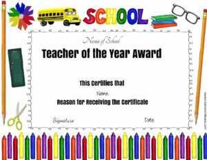 Best Teacher Certificate Template Best Professional for Best Teacher Certificate Templates Free