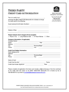 Best Western Credit Card Authorization Form – Fill Online intended for Hotel Credit Card Authorization Form Template