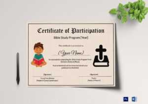 Bible Prophecy Program Certificate For Kids Template intended for Christian Certificate Template