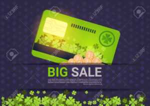 Big Sale For St. Patrick's Day Holiday Poster Template Credit.. intended for Credit Card Templates For Sale