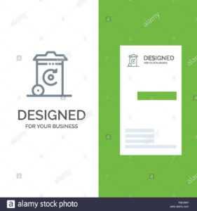Bin, Recycling, Energy, Recycil Bin Grey Logo Design And inside Bin Card Template