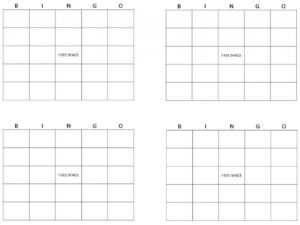 Bingo Card Template | Bingo Template regarding Bingo Card Template Word