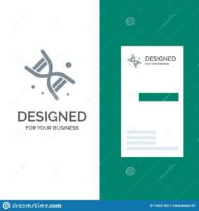 Bio, Dna, Genetics, Technology Grey Logo Design And Business with Bio Card Template
