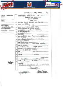 Birth Certificate Peru intended for Birth Certificate Translation Template English To Spanish