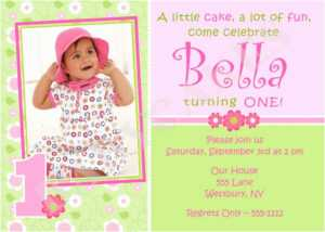 Birthday Invitation Cards 1St Birthday Invitations Girl Free within First Birthday Invitation Card Template