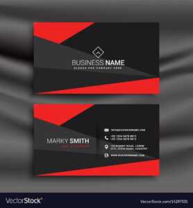 Black And Red Business Card Template With throughout Adobe Illustrator Business Card Template