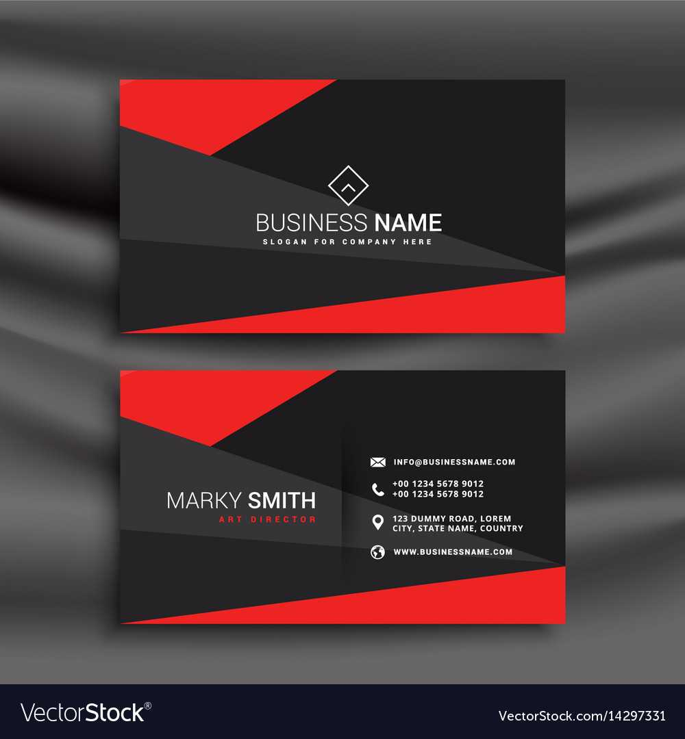 Black And Red Business Card Template With Throughout Buisness Card Templates