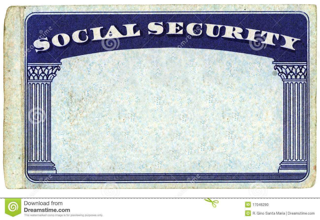 Blank American Social Security Card Stock Photo - Image Of Within Social Security Card Template Pdf