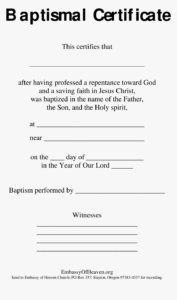 Blank Baptism Certificate Sample Main Image – Modern Control with regard to Baptism Certificate Template Download
