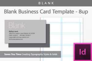 Blank Business Card Indesign Template pertaining to Birthday Card Template Indesign
