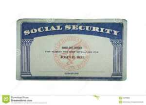 Blank Card Stock Photo. Image Of Financial, Card, Social throughout Social Security Card Template Pdf