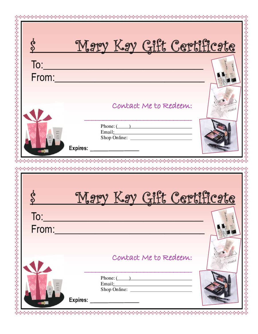 Blank Giftcertificates - Edit, Fill, Sign Online | Handypdf In Mary Kay Gift Certificate Template