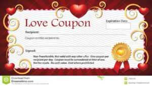 Blank Love Coupon Stock Illustration. Illustration Of throughout Love Certificate Templates