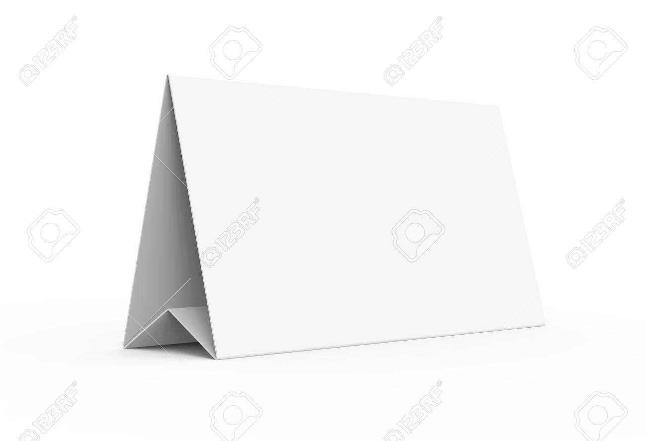 Blank Paper Tent Template, White Tent Card With Empty Space In.. Regarding Blank Tent Card Template