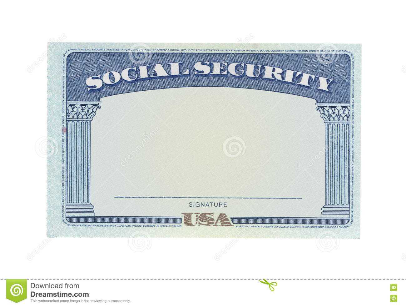 Blank Social Security Card Template Download - Great With Regard To Fake Social Security Card Template Download