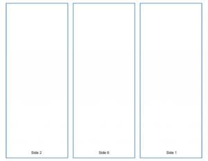 Blank Tri-Fold Brochure Template – Google Slides Free Download for Google Drive Templates Brochure