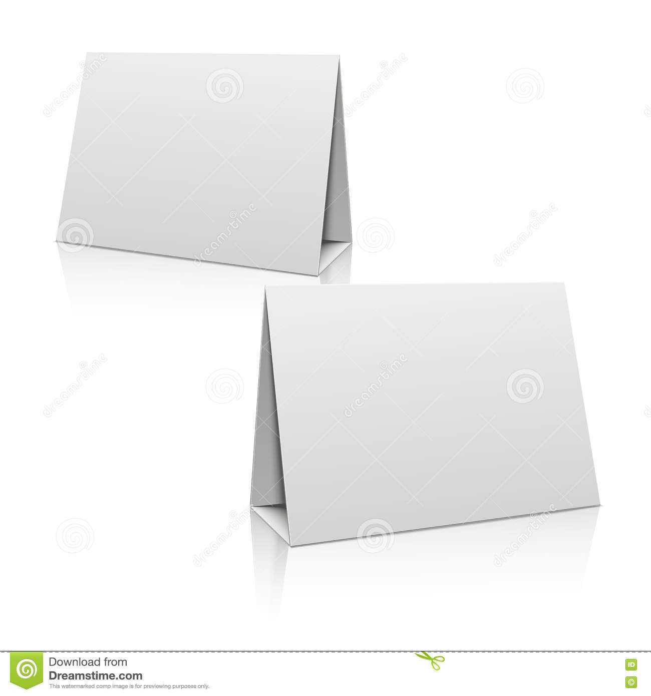 Blank White Paper Stand Table Holder Card. 3D Vector Design Throughout Card Stand Template