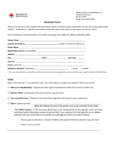 Blood Donation Form – 2 Free Templates In Pdf, Word, Excel with Donation Card Template Free
