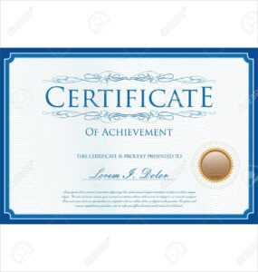 Blue Certificate Or Diploma Template with regard to Dance Certificate Template