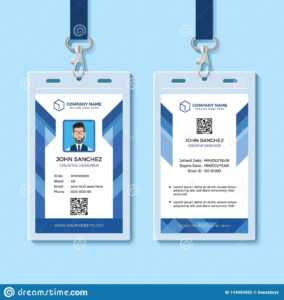 Blue Employee Id Card Design Template Stock Vector regarding Company Id Card Design Template