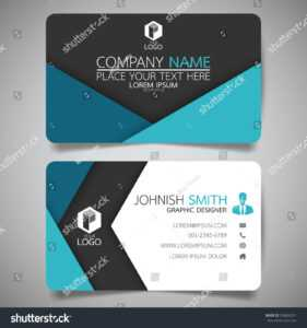 Blue Fold Modern Creative Business Card | Backgrounds with regard to Fold Over Business Card Template