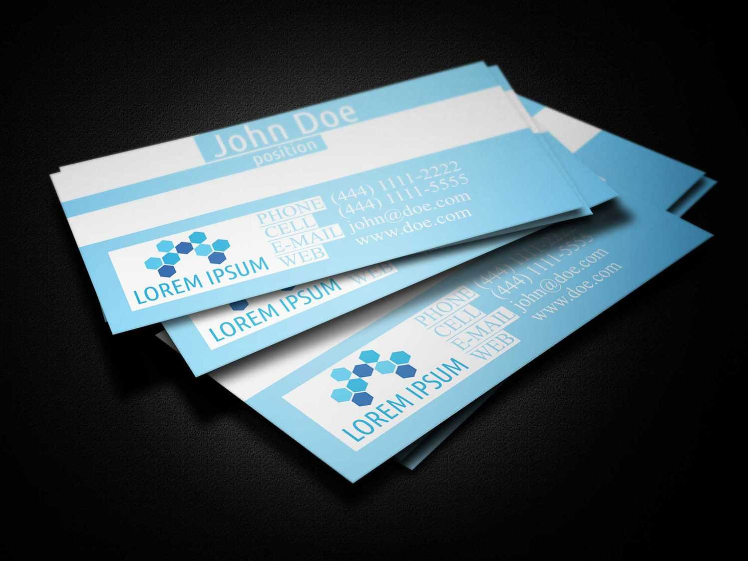 Blue Medical Business Card Template - Business Cards Lab Within Medical Business Cards Templates Free