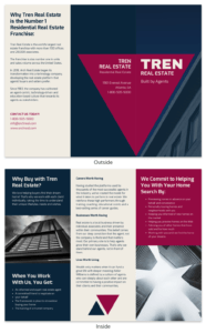 Bold Real Estate Tri Fold Brochure Template within Training Brochure Template