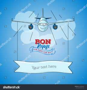 Bon Voyage Card Images, Stock Photos & Vectors | Shutterstock within Bon Voyage Card Template