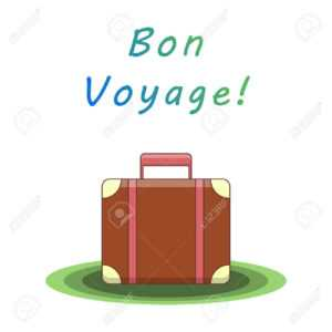 Bon Voyage. Suitcase For Traveling. Template For Card, Flyer,.. throughout Bon Voyage Card Template
