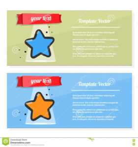Booklet Vector, Flyer Set With Image Of A Star. Template regarding Star Award Certificate Template