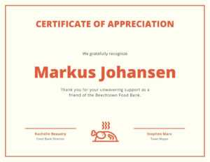 Border And Icon Certificate Of Appreciation – Templatescanva pertaining to Borderless Certificate Templates
